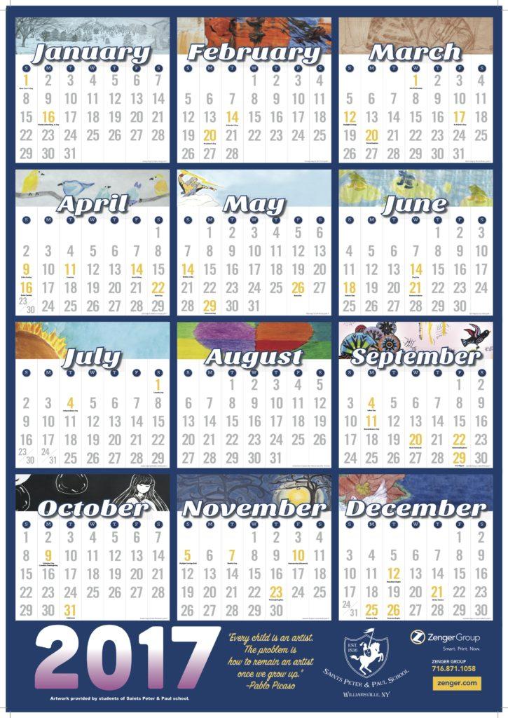 Calendar For Sale : Calendars for sale saints peter paul